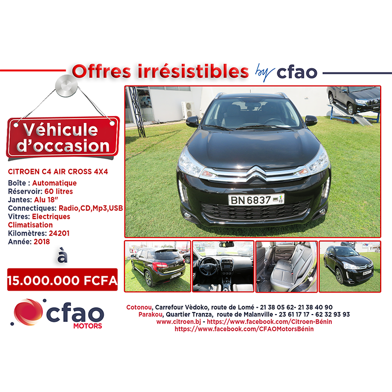Offres irrésistibles by Cfao. CITROEN C4  AIR CROSS 4X4
