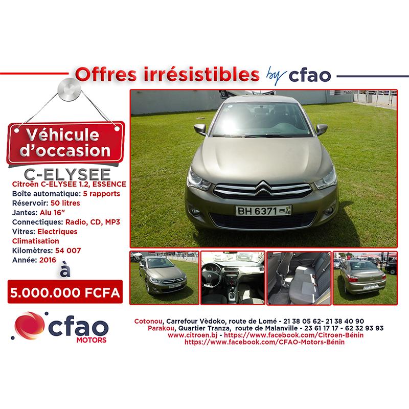 Offres irrésistibles by Cfao. CITROEN C-ELYSEE